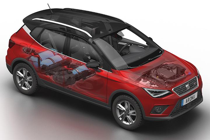 A Seat Arona Tgi Az Októberi Párizsi Autószalonon Tartotta Világpremierjét Leon Ibiza és Mii Modellekhez Csatlakozva új Bemutatásával
